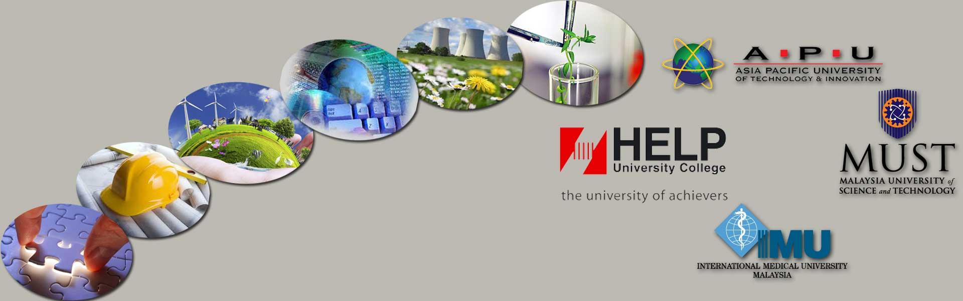 IMU, MUST APU and HELP universities in Malaysia